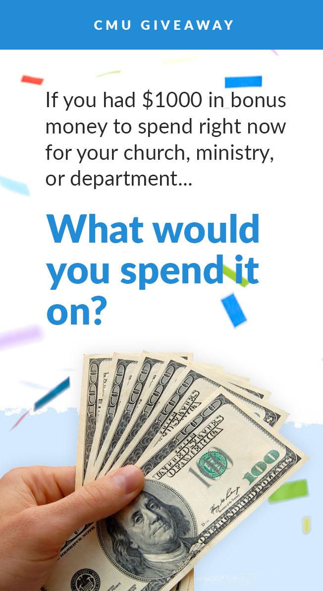 $1,000 Giveaway For Your Church